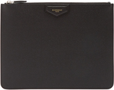 Givenchy Logo-patch grained-leather document holder