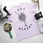 Art Disco 'Last Resort' Pink Flaming Palm Tree T Shirt