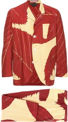 Comme Des Garçons Pre Owned Leaf Two-Piece Suit