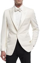 Tom Ford Shelton Base Wool-Mohair Cardigan Dinner Jacket