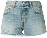 Levi's distressed denim shorts - women - Cotton - 28