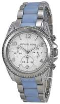 Michael Kors MK6137 Blair Silver Dial Stainless Steel Chronograph 39mm Womens Watch