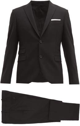 Neil Barrett Tailored Slim Fit Two Piece Suit - Mens - Black