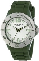 Akribos XXIV Women's AK536GN Essential Luminous Quartz Silicon Strap Watch