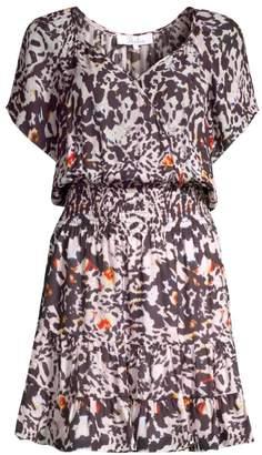 Parker Augustine Animal Print Mini Dress