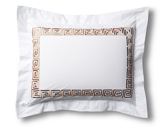 Hamburg House Greek Key Sham - White/Tan king