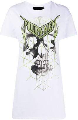 Philipp Plein skull print T-shirt dress