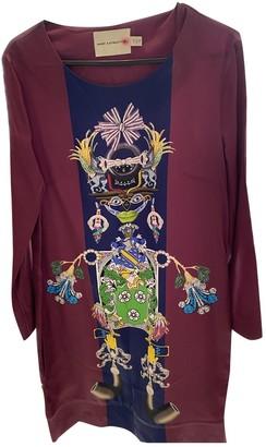 Mary Katrantzou Burgundy Silk Dresses