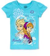 Children's Apparel Network Turquoise 'Family Forever' Anna & Elsa Tee - Girls