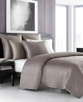 Hotel Collection Finest Silken Quilted Queen Coverlet