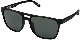 Spy Optic Czar (Soft Matte Black/Happy Gray Green) Athletic Performance Sport Sunglasses