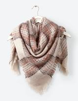 Fat Face Evie Brushed Check Square Scarf