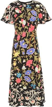 Peter Pilotto Floral-print Cloque Midi Dress