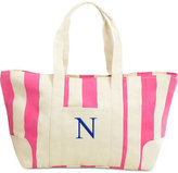 Cathy's Concepts Personalized Pink Striped Canvas Tote