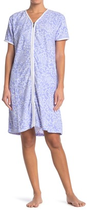 Carole Hochman Zip Front Patterned Robe