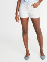 Old Navy Mid-Rise White Jean Shorts For Women - 3-Inch Inseam