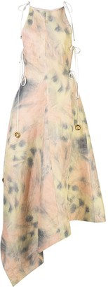 Ellery Galapogas asymmetric tie-dye dress