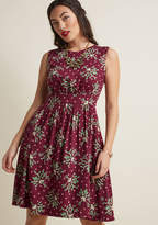Emily And Fin Too Much Fun A-Line Dress in Mistletoe in XS - Sleeveless Knee Length by from ModCloth
