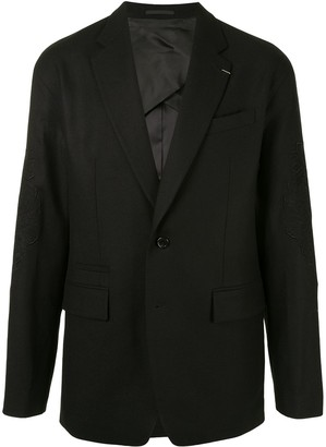 SONGZIO Embroidered Sleeve Wool Jacket