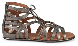 Gentle Souls Leather Ghillie d'Orsay Flat Sandals