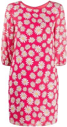Boutique Moschino Floral Shift Mini Dress