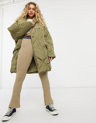 Free People Ella padded jacket in olive
