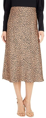 J.Crew Pull-On Slip Skirt in Wild Cheetah (Camel/Black) Women's Skirt