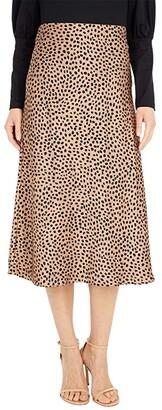 J.Crew Pull-On Slip Skirt in Wild Cheetah (Camel/Black) Women's Skirt