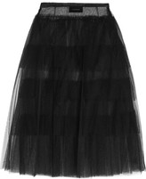 Simone Rocha Tiered Tulle Midi Skirt - Black