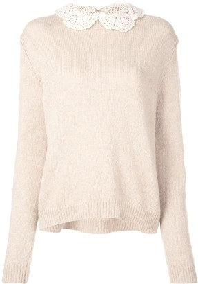 Marc Jacobs The Crochet Collar jumper