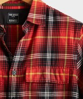 Todd Snyder Vintage Plaid Shirt Jacket in Red