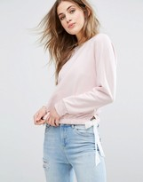 Miss Selfridge Tie Side Sweatshirt