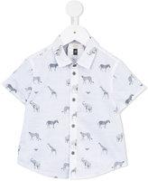 Armani Junior zoo animal print shirt - kids - Cotton - 9 mth