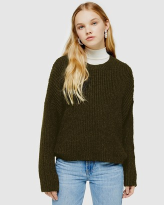Topshop Knitted Crew Neck Jumper
