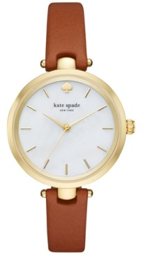 Kate Spade Women's Holland Luggage Leather Strap Watch 34mm KSW1156