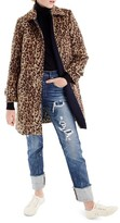 J.Crew Women's Double Leopard Topcoat