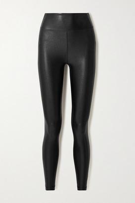 Heroine Sport Marvel Metallic Stretch Leggings - Black