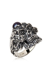 Manuel Bozzi Sacred Death Silver And Pearl Ring