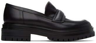 Gianvito Rossi Black Argo Loafers