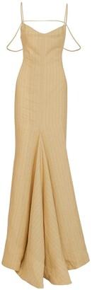 Jacquemus La Robe Camargue Linen Long Dress