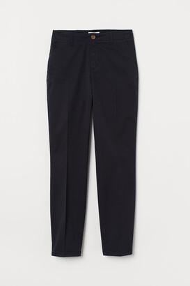 H&M Cotton Chinos - Black