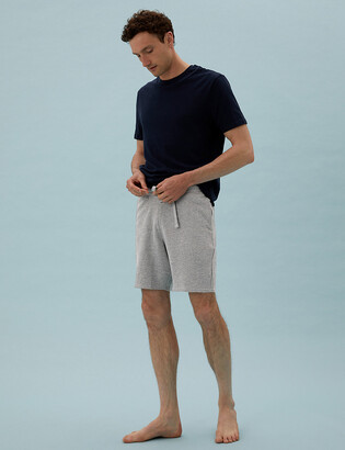 Marks and Spencer Cotton Supersoft Waffle Loungewear Shorts