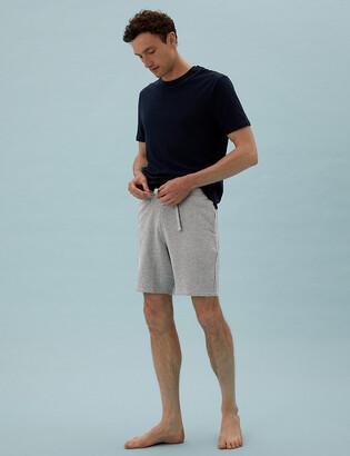 Marks and Spencer Cotton Waffle Loungewear Shorts