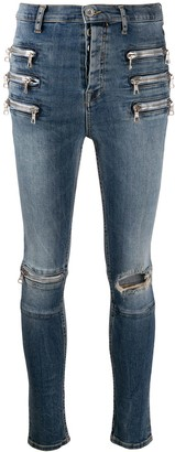 Unravel Project Triple Zip skinny-fit jeans