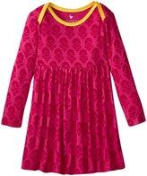 Pink Chicken Micah Dress (Baby) - Pink Floral Block Print - 6-12 Months