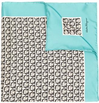 Salvatore Ferragamo silk printed Gancini scarf