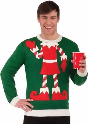 Forum Novelties Inc. Forum Women's Plus-Size Extra Large Elf Ugly Christmas Sweater