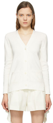 Sacai White Star Embroidered Cardigan