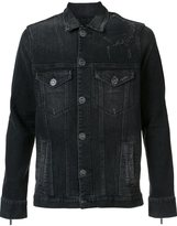 En Noir - 'Dirty Denim Trucker' jacket - men - Cotton/Rayon - L