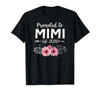 Promoted to Mimi Est 2020 Floral Gift For New Grandma T-Shirt